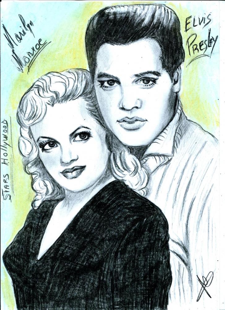 Elvis Presley, Marilyn Monroe by isabella1988